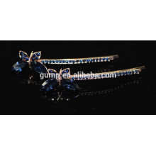 2015 Fashion Butterfly Shape Rhinestone Barrette Crystal Bobby pin