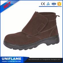 Botas de seguridad de la fábrica Prefessional barato con Velcro A054