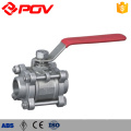 Manual operated 3pc thread 1/2 inch mini ball valve