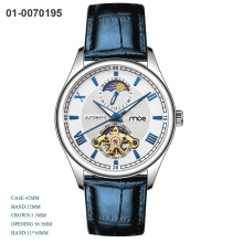 Custom Fashion Moon phase Automatic Mechanical Man Watch