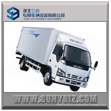 5t 120HP Isuzu 600p 4X2 Cargo Camión Furgón