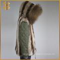 New Style Custom Cheap Real Faux Fox Femmes Raccoon Fur Parka