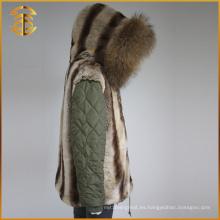 Venta directa de la fábrica de la manera de la señora de las chaquetas del invierno de la piel de las mujeres