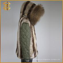Venda Directa de fábrica Moda Lady Jackets Winter Women Fur Parka