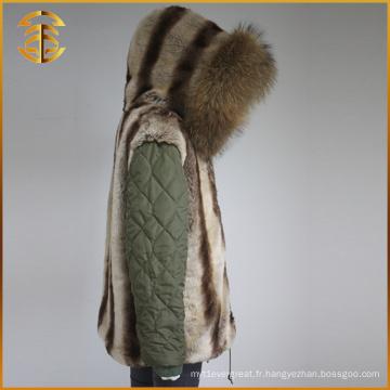 Vente directe en usine Mode Lady Jackets Winter Women Fur Parka