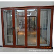 commercial price aluminium profile folding interior door