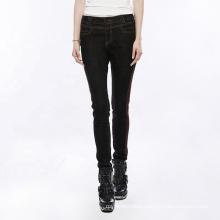 OPK-170 PUNK RAVE Women Long Ladies High Waist Slim Pencil Plus Size Skinny Breathable Flat Pants