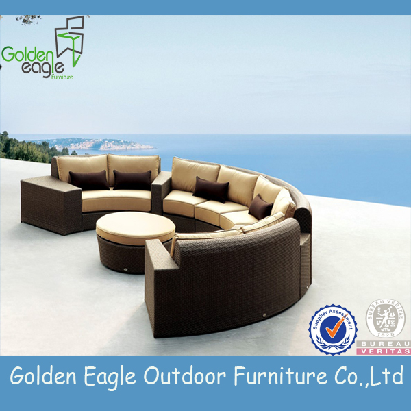rattan aluminium tube outdoor garden furniture