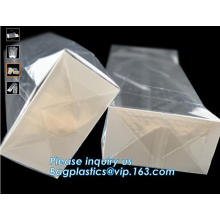 Clear Window OPP BOPP Plastic Square Block Flat Bottom, Square Bottom Gusset Food Packaging Cello Bags