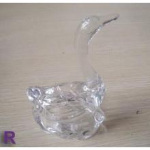 Decorative Swan Shaped Glass Ring Holder