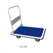 Armazém 300kg dobrável carrinho de carrinho de plataforma de plástico