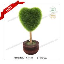 Plante artificielle en plastique vert 10-18cm