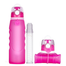 Portable Foldable Silicone Water Bottle with Filter
