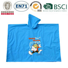 fashion printing rain poncho with logo