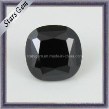 Perles de zircon cubiques noires et pierres précieuses noires carrées
