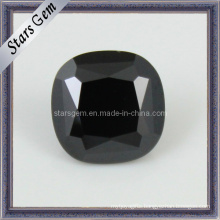 Square Black Gemstone Black Cubic Zircon Beads