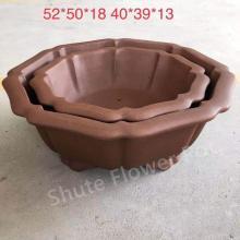 Vente chaude de pots de fleurs en argile pourpre en plein air