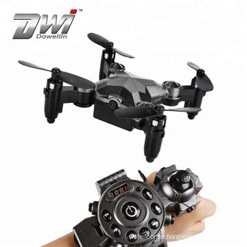 DWI 2.4G 480P Wifi FPV Mini Camera Drone Altitude Hold G-sensor Foldable Portable Watch Style Remote Control Drone