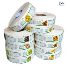 Benutzerdefinierte Druck PVC-Material Obst Lebensmittelverpackungen Aufkleber Etiketten