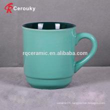 Green color ceramic unbreakable milk mug cup