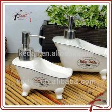 Accessoires de salle de bains en céramique Distributeur de lotion pour baignoire