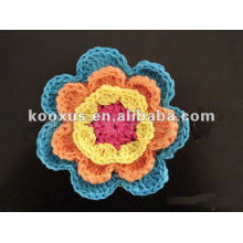 knit crochet flowers for hat