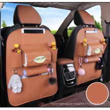 Direct Factory Leather Multifunctional Back Organizer Hanging Bag Seat Storage Car Bag