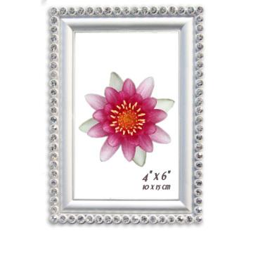 Diverse couleur blanc avec cadre Photo cristal métal