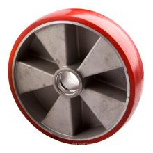 PU Cast Aluminum Core Pallet Truck Wheels, 200X50mm