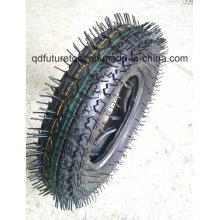 Neumático de alta calidad de la carretilla de rueda, neumático de la carretilla 4.00-8, neumático y tubo de la carretilla 400-8