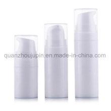 Bouteille sans air de pompe cosmétique de lotion de voyage en plastique blanc d'OEM