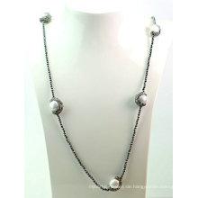 Heiße Verkauf Hämatit Barock Perlen Halskette Schmuck für Lady Woman