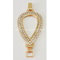 Heart-Shaped Alloy Decorative Sandal Chain with Rhinestone Filled Around
