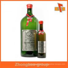 Гуанчжоу производитель оптовая печать и упаковочный материал пользовательских самоклеящиеся этикетки металла наклейку для бутылки