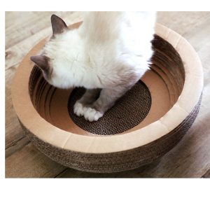 Factory selling for Kitty Bowl Cat Scratcher Cat Scratch Corrugated Paper House supply to Italy Manufacturers