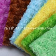 Multi-Color Rose Terciopelo para juguetes de peluche Loop Pile Tela