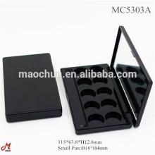 Leere kompakte schwarze Lidschatten-Containerpalette