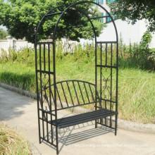Горячая продажа кованого железа скамейке сада с аркой