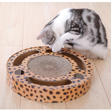 round circuit multifunction cat toy cardboard