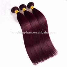High quality two tone ombre hair silk straight weave blonde color human remy hair weaves