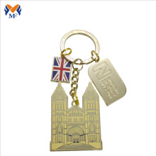 Country souvenir gift custom engrave metal keychain