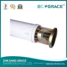 Sac de collecteur de poussière de filtre à air de polyester de 500GSM