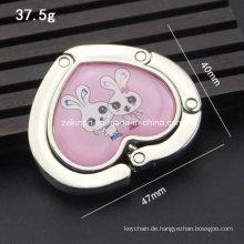 Benutzerdefinierte Herz Form süße Tasche Aufhänger mit Logo Druck für Förderung