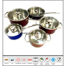 10PCS Color Stainless Steel Cookware Set