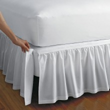 Plain Detachable Ruffled Bed Skirt