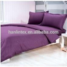 100% Algodão sateen stripe hotel tecido de cama têxtil para cama, hotelaria têxtil