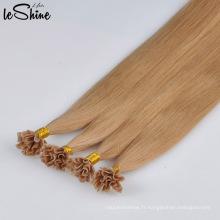 100% Remy U Tip Extension de cheveux Humain Double Drawn