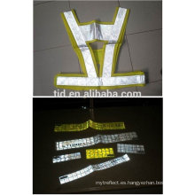 Cinta amarilla fluorescente de alto brillo para prendas de seguridad