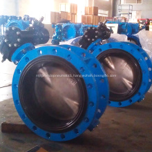 Concentric Double Flange Rubber Lining Butterfly Valve
