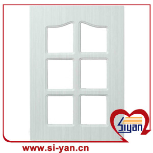 Mdf glass cabinet doors with glass insert